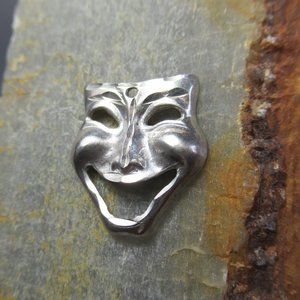 Sterling COMEDY Theater Mask Charm Sock and Buskin
